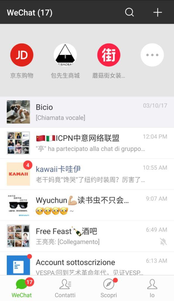 mini-program di WeChat
