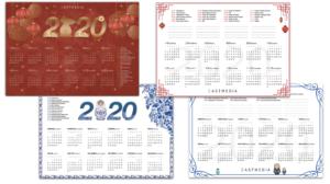 Calendario cinese e russo 2020