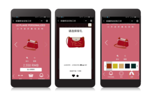 longchamp mini-program funzioni di WeChat