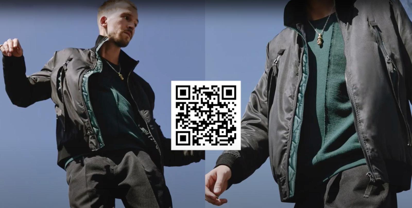 QR code moda virtuale