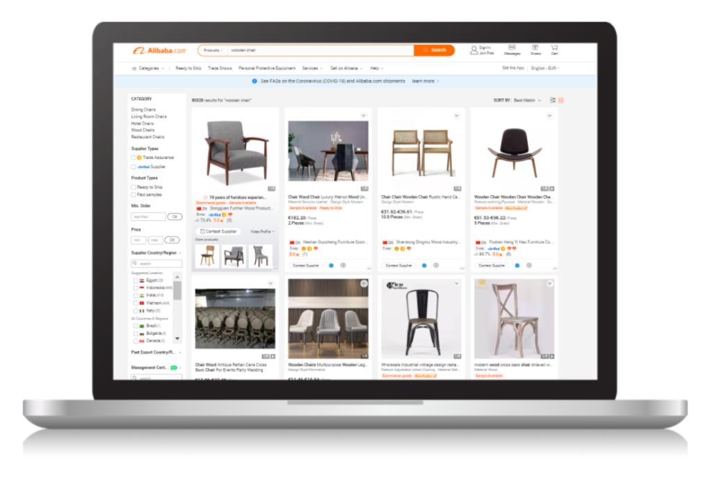 inserirsi su Alibaba.com